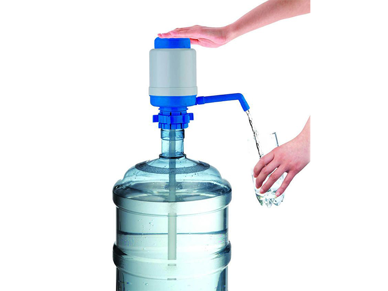 Manual Drinking Water Pump Dispenser - White and Blue