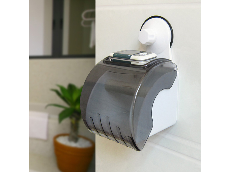 Waterproof Roll Paper Toilet Paper Holder - White