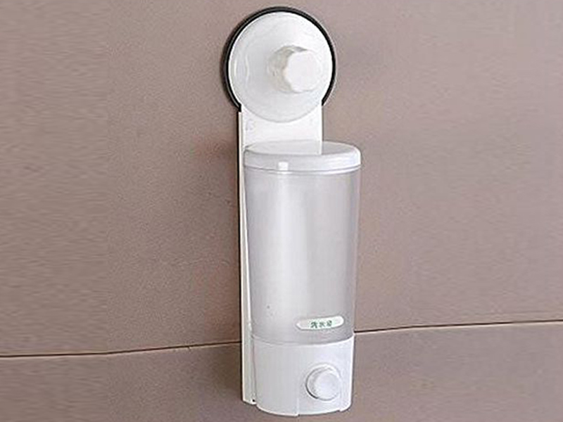 Single Suction Cup Soap & Shampoo Dispenser