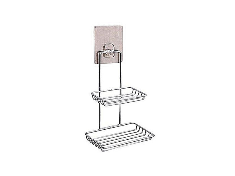 Stainless Steel Double Layers Soap Shelf Hanger for Bathroom