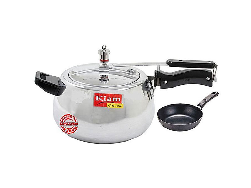 Kiam Queen Pressure Cooker 3.5 L & Non-Stick Fry Pan