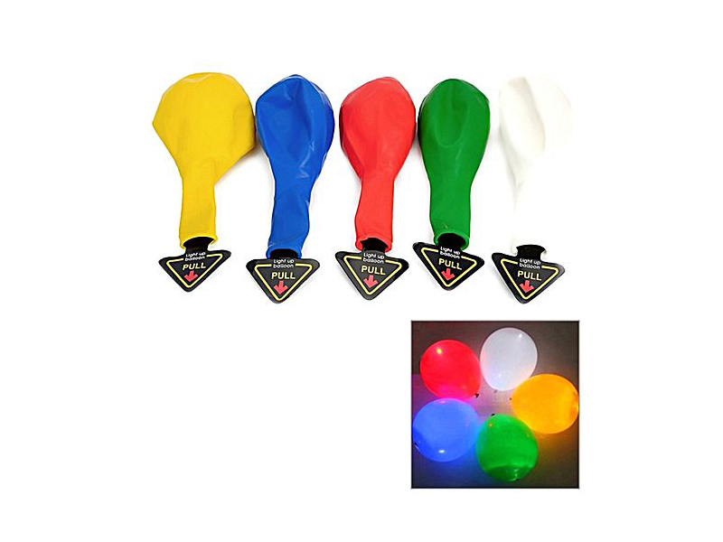 Color Changing Magic LED Balloons - 5pcs - Multicolor