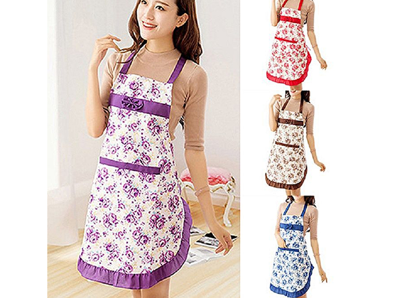 Kitchen Apron for Clean and Smart Cooking -Multicolor