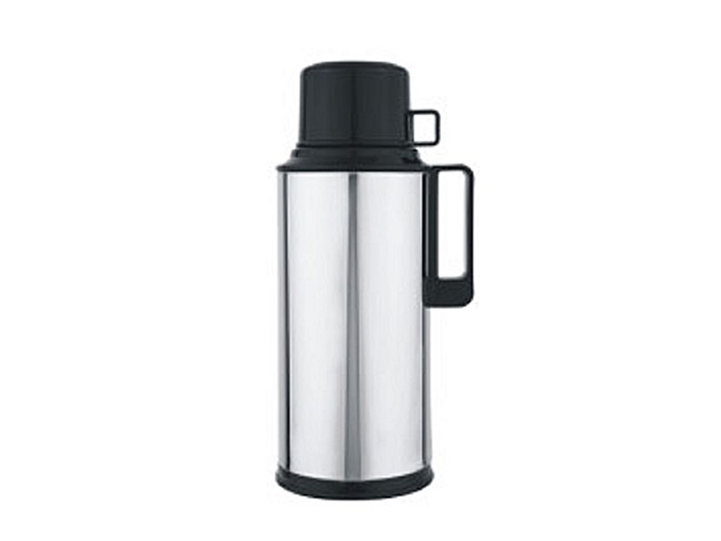 Regal RAG-10MS Mirror Finished Metal Body Vacuum Flask - Silver and Black