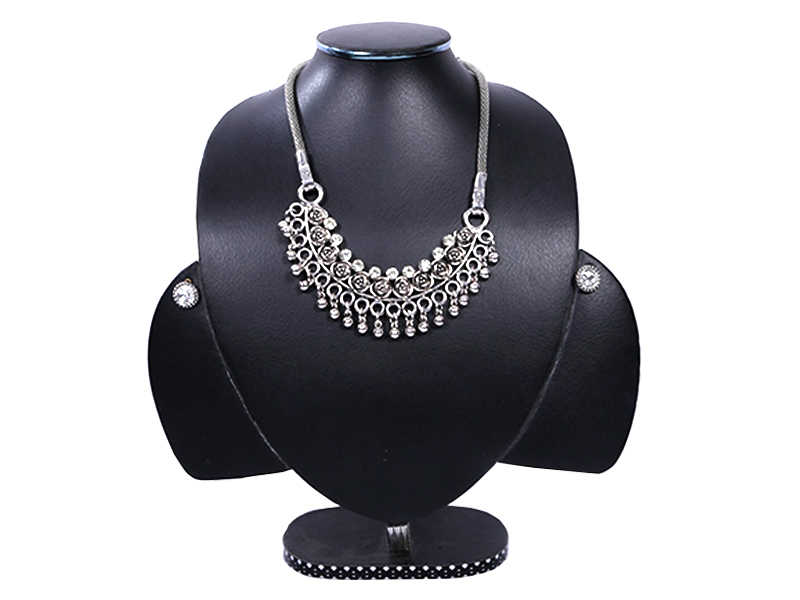 Silver Metal  Imitation Necklace set For Women