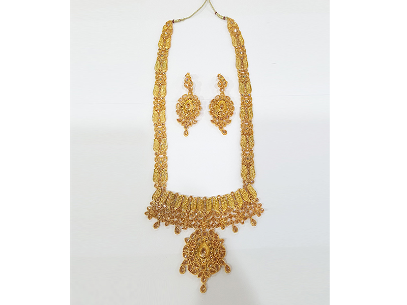Gold Plated Imitation Jewelry Set For Women