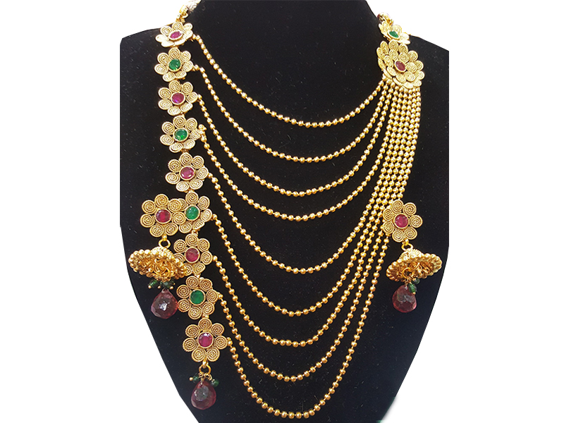 Gold Plated Imitation  Jewelry Set For Women-02