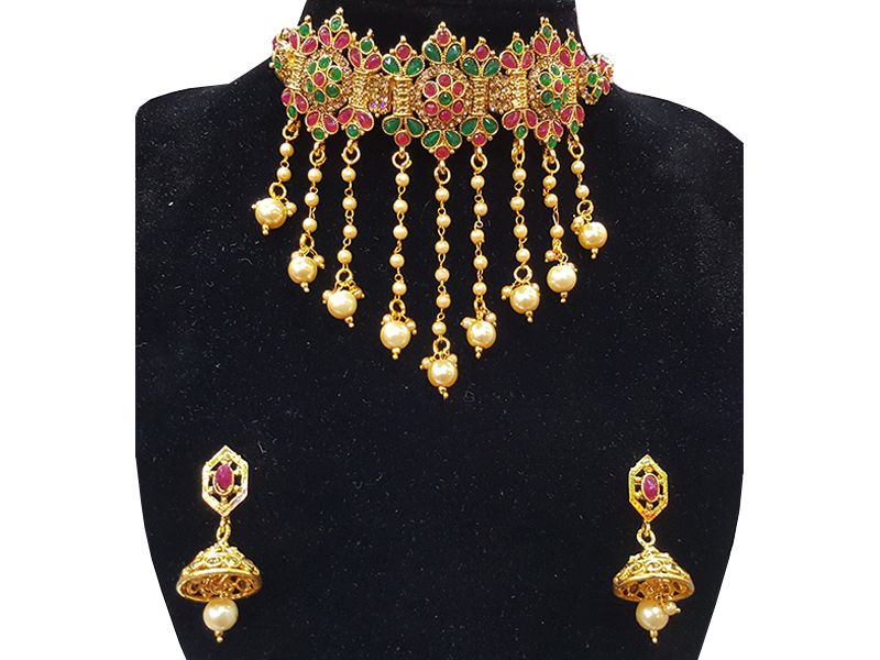 Gold Plated Imitation Jewelry Set For Women-03