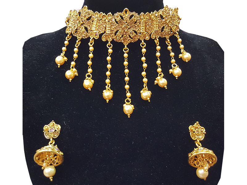 Gold Plated Imitation  Jewelry Set For Women-04