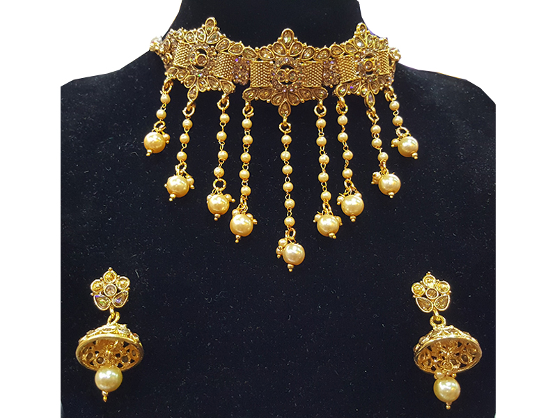 Gold Plated Imitation  Jewelry Set For Women-05