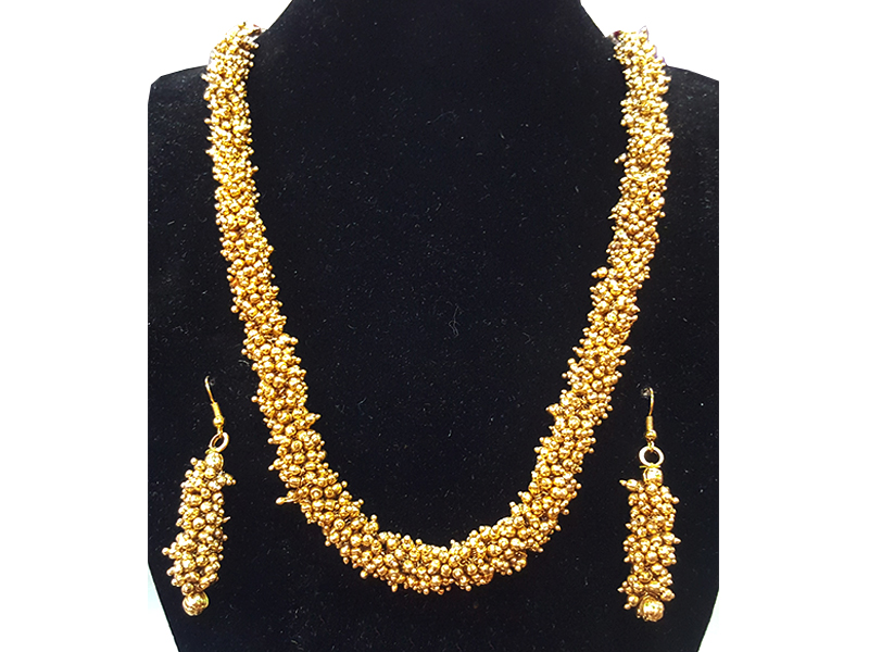 Gold Plated Imitation Jewelry Set For Women-06
