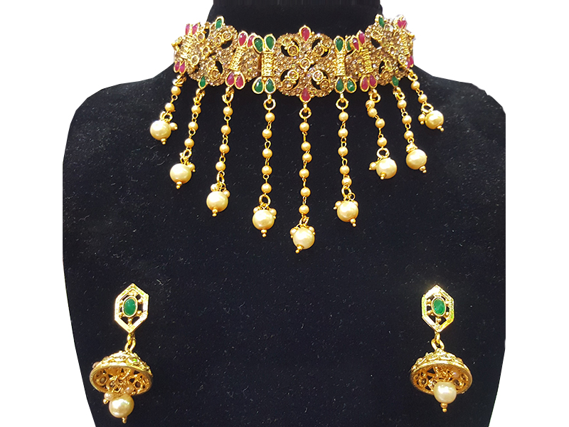 Gold Plated Imitation  Jewelry Set For Women-07