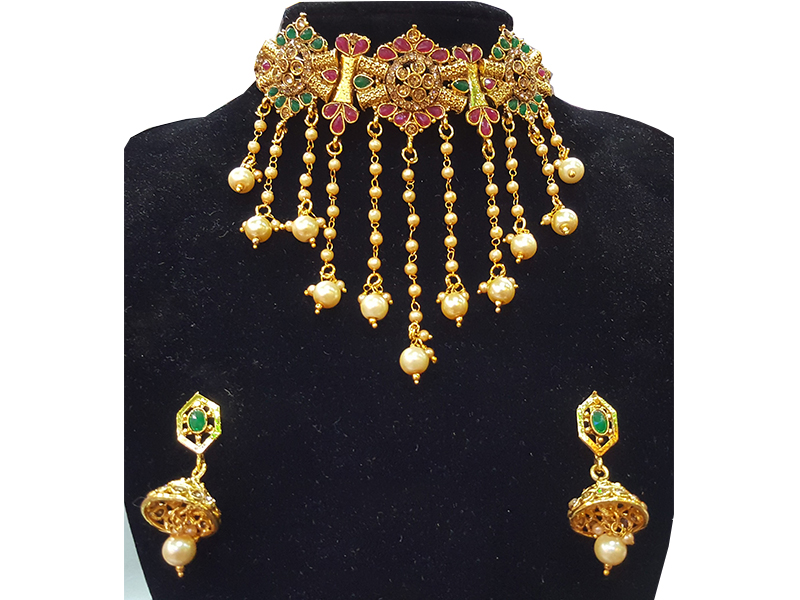 Gold Plated Imitation  Jewelry Set For Women-08