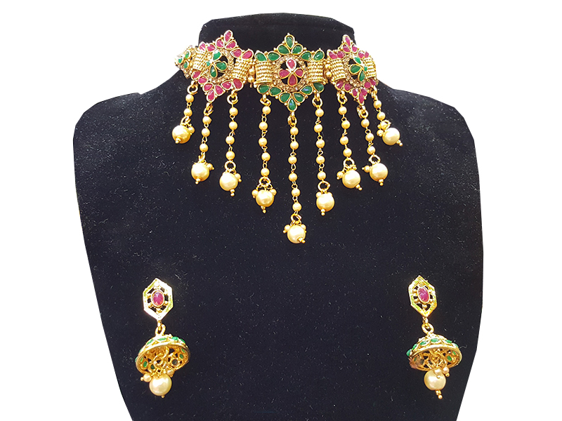 Gold Plated Imitation  Jewelry Set For Women-09