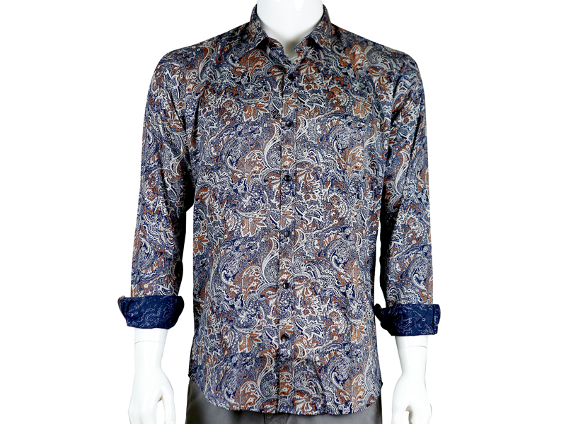 Sueno Buttoned down Full Sleeve Patterned Shirt