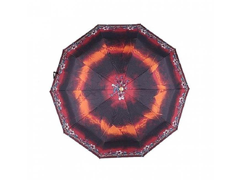Printed Polyester Umbrella - Black and Red