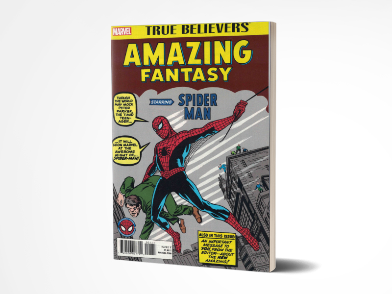 True Believers Spider-Man (Amazing Fantasy 15 first appearance of Spider-Man)