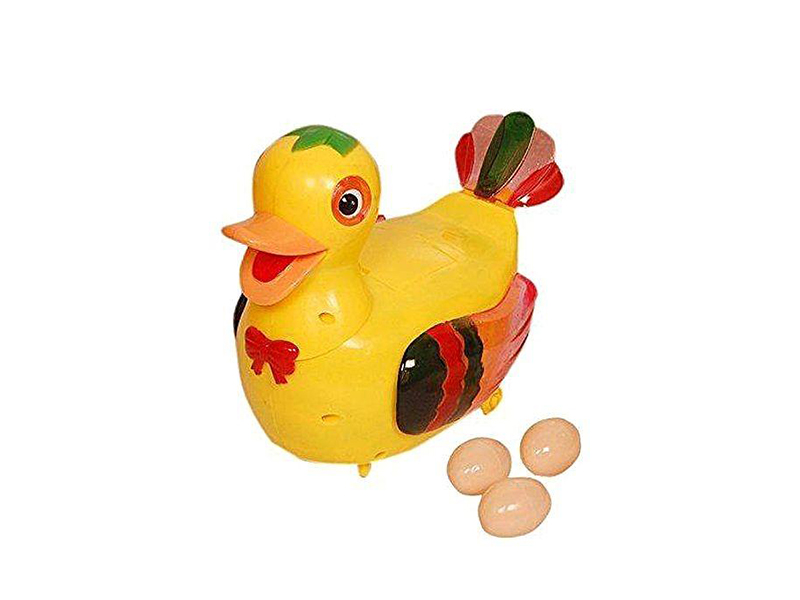 Funny Lays Egg Toy - Yellow
