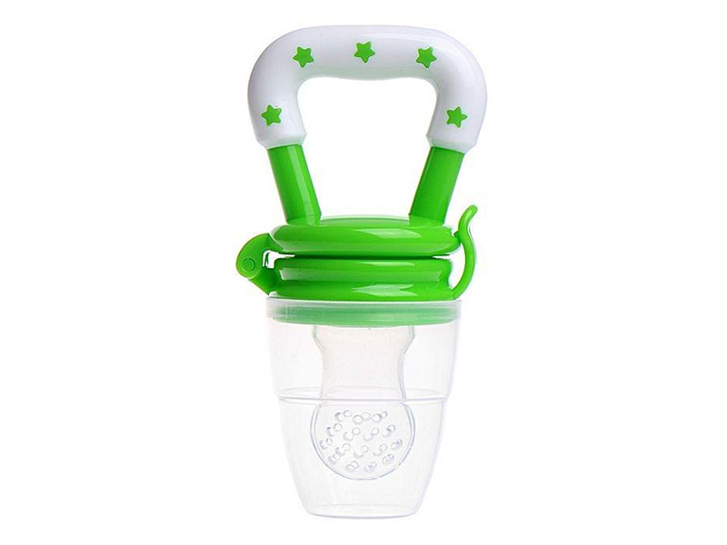 Plastic And Silicone Baby Fruit Feeding Pacifier - Green