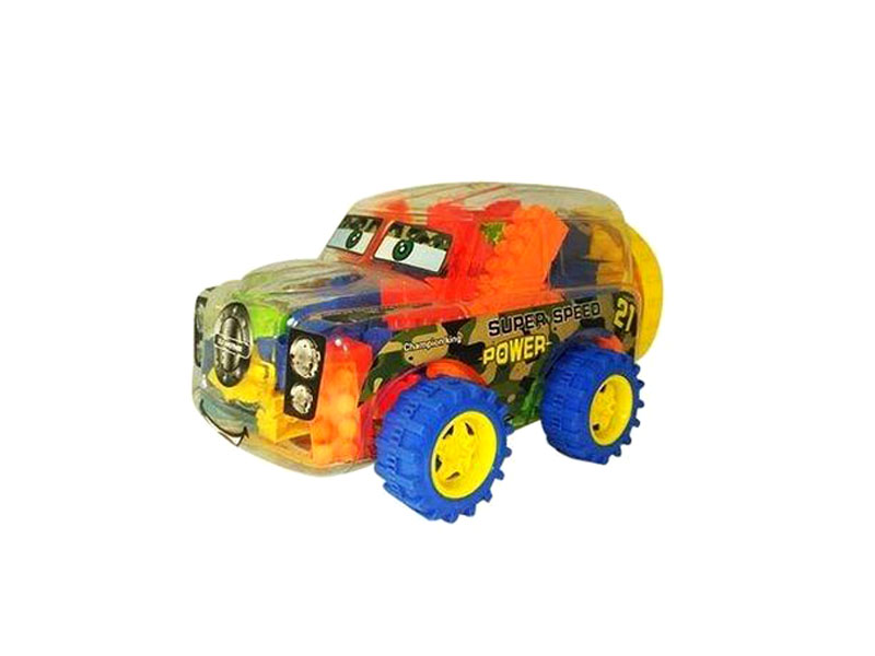 Kids Learning Puzzle Car Box - Multicolor