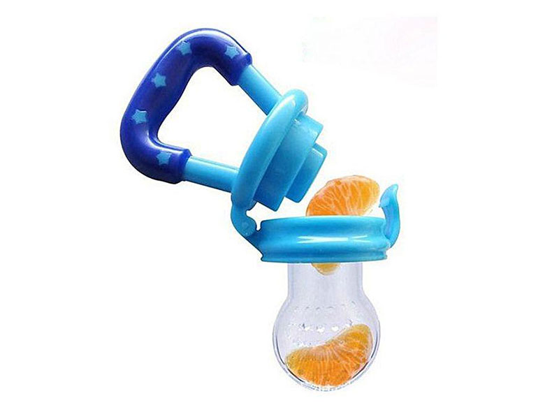 Plastic And Silicone Baby Fruit Feeding Pacifier - Blue