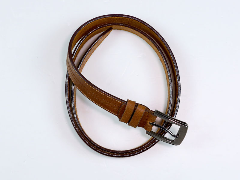 CL Brown Leather Belt for Kids 7-A