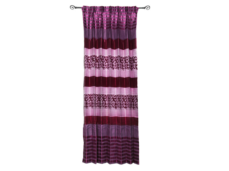 Maroon Satin Fabric Curtain