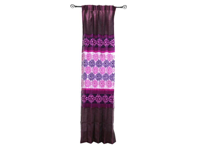 Maroon-Purple Satin Fabric Curtain