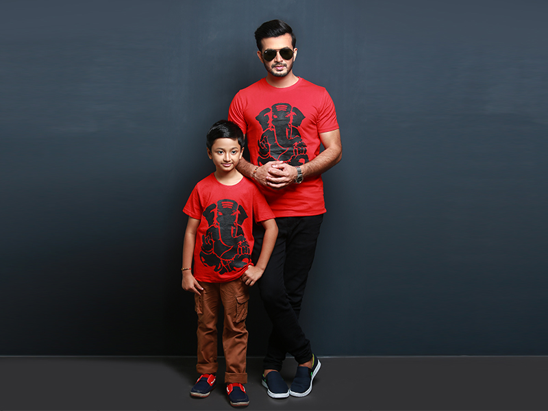Stylish Men's And Kids T-shirt By Swapon's World-SW3409T (M - M)