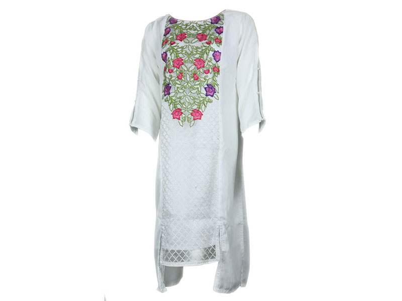 White Fashionable Ladies Stitched Kurti DG007 (38)