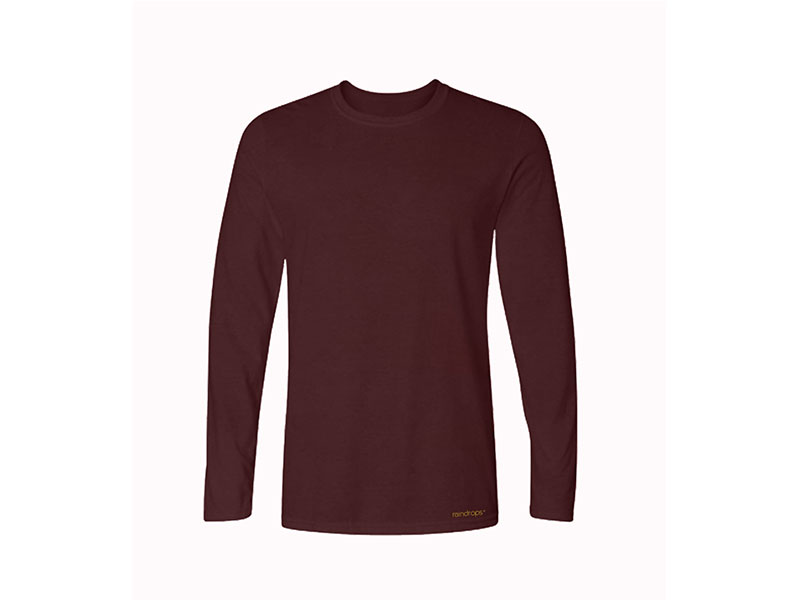 Raindrops  Electric Maroon Full sleeve T Shirt