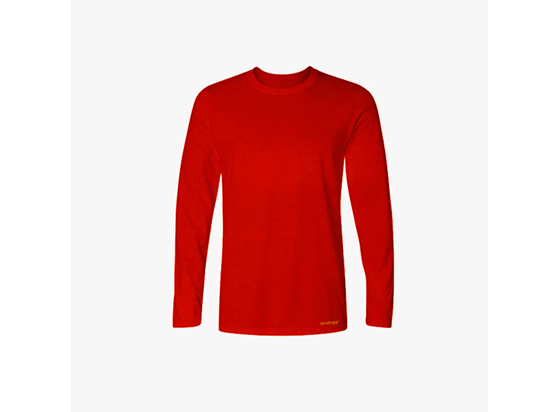 Raindrops Signal Red Full Sleeve T shirt