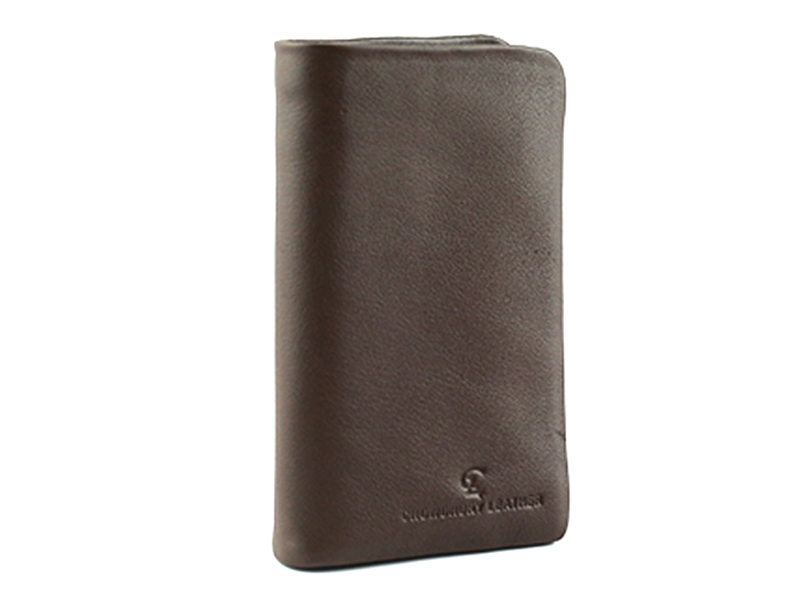 CL Fashionable Leather Wallet for Men- Chocolate