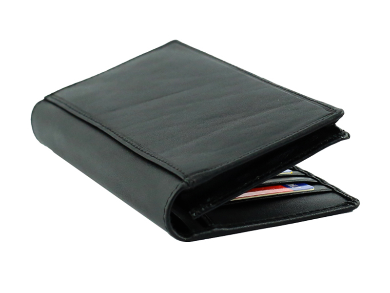 CL Fashionable Black Leather Mobile Wallet