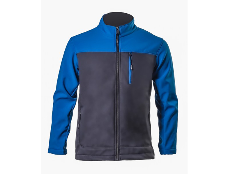 Rado Dark Heather Grey / Royal blue Soft Shell Jacket