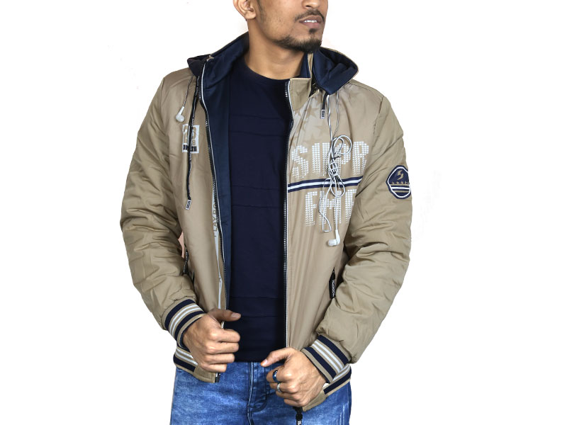 3D Print Men's Hoodie Sweater Jacket-Grey and Navy Blue