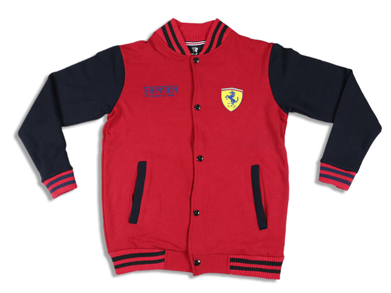 Men's Red and Blue Ferrari  Solid Sweat Shirt