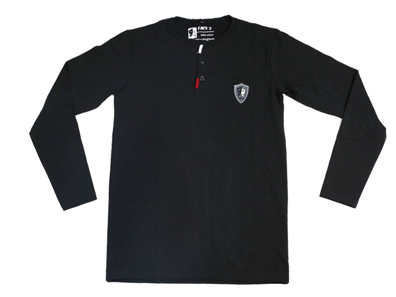 Men's Black Full Sleeve T Shirt