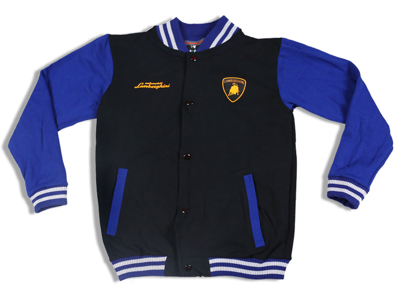 Men's Blue and Black Lamborghini Solid Sweat Shirt