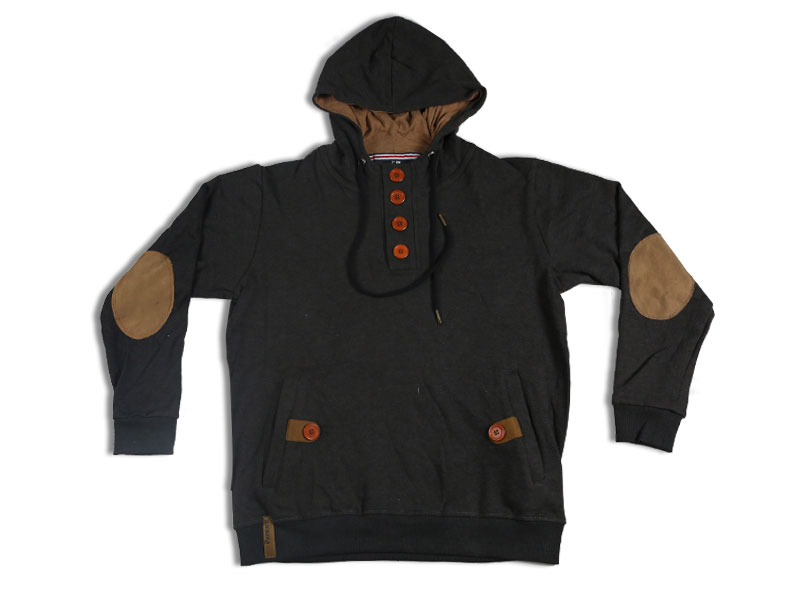 Men's Coffee and Brown Hoodie Jacket
