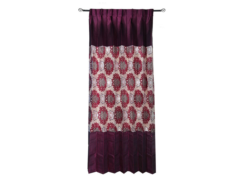 Red and Maroon Satin Fabric Curtain