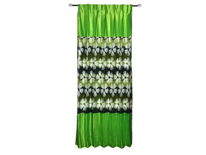 Light Green Satin Fabric Curtain
