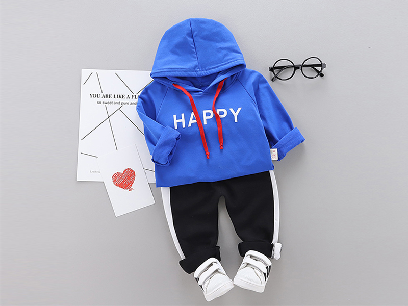 Blue Hoodie & Black Trouser for Kids (2 Years)