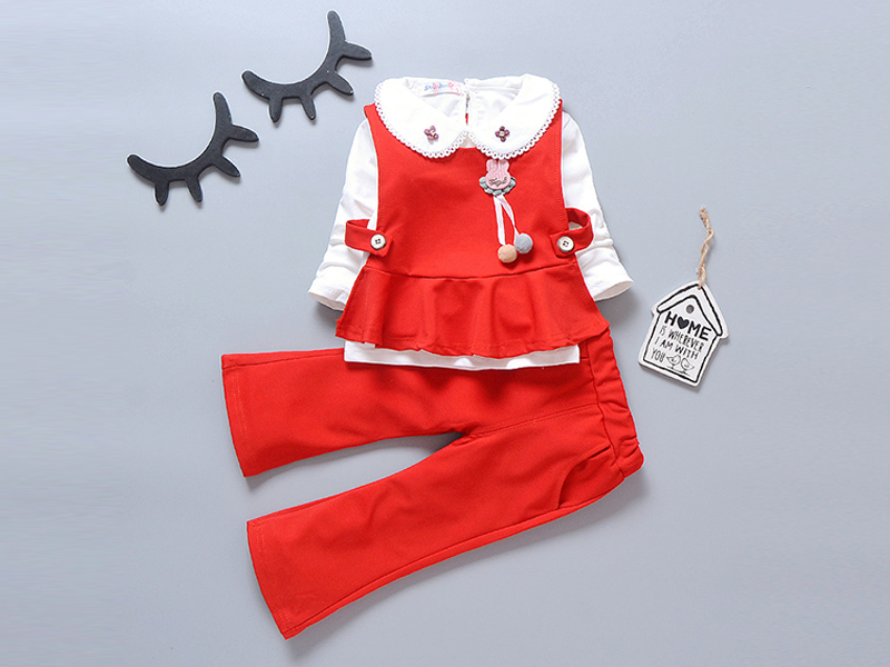 Red Frock and Pant for Kids