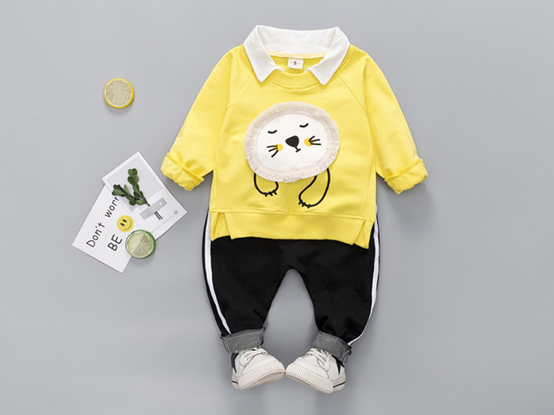 Yellow T Shirt and Black Pant for Kids