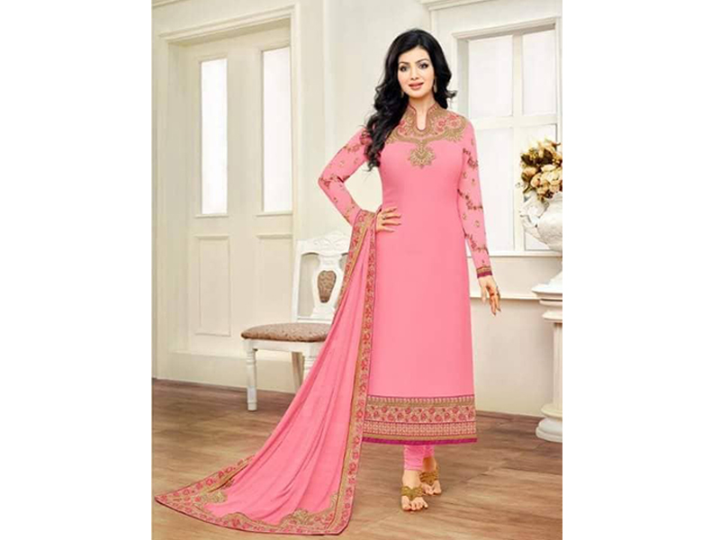 Indian Designer Watermelon Embroidery Dress