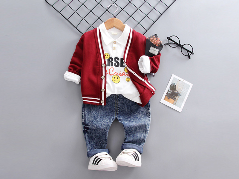 Red Jacket and Blue Pant for Kids