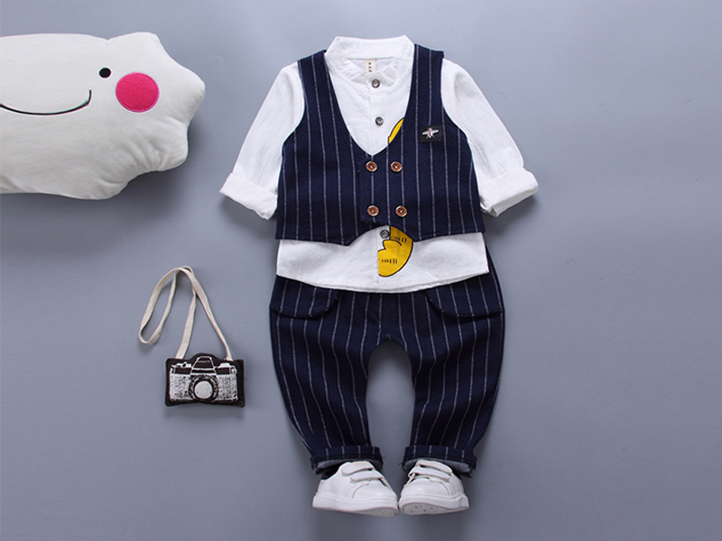 White Shirt And Black Pant For Kids