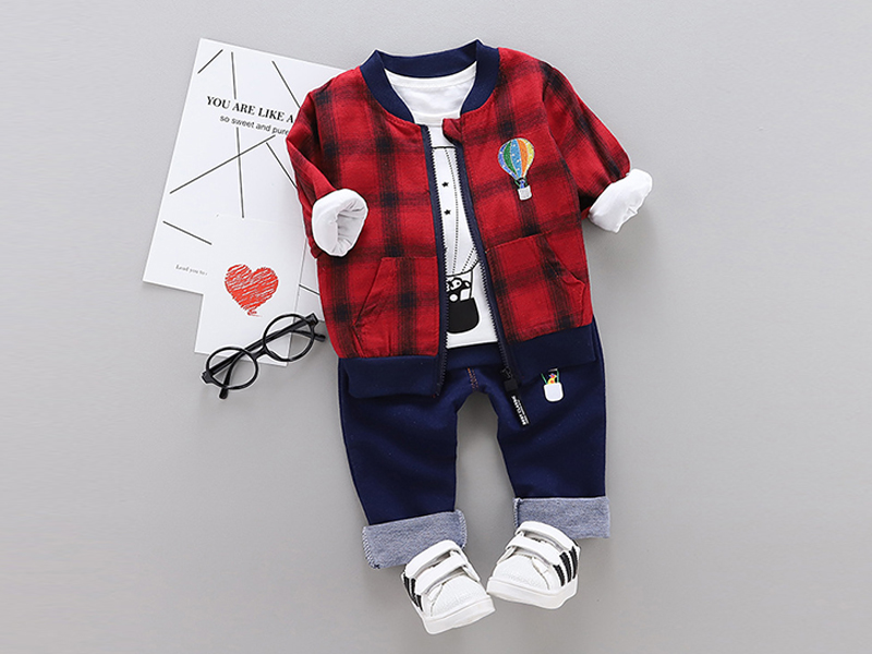 Red Jacket & Blue Pant For Kids