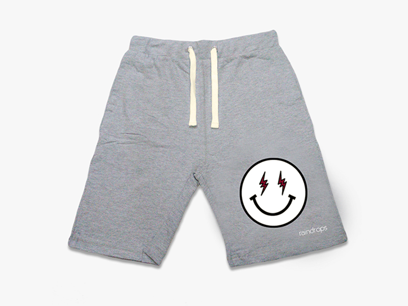 Grey Power Smiley Shorts
